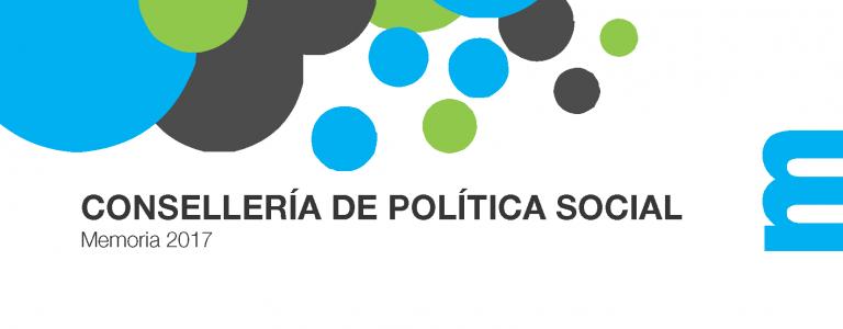 Consellería de Política Social. Memoria, 2017